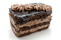 Chocolate cake close-up royalty free stock photography