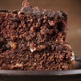 Chocolate cake close-up Royalty Free Stock Images