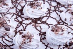 Chocolate cake closeup Royalty Free Stock Photography