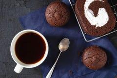 Chocolate Cake with Coffee stock photography