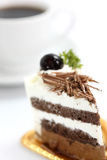 Chocolate Cake with coffee Royalty Free Stock Images