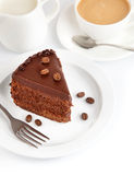 Chocolate cake with coffee Royalty Free Stock Image