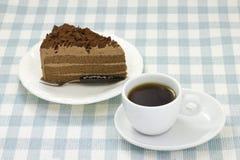 Chocolate cake and coffee Stock Photography