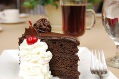 Chocolate cake and coffee Royalty Free Stock Photo