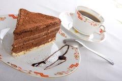 Chocolate cake and coffee Royalty Free Stock Image