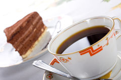 Chocolate cake and coffee Royalty Free Stock Photography
