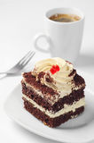 Chocolate cake and coffee Stock Image