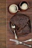 Chocolate cake and coffee Stock Image