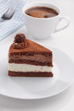 Chocolate cake and coffee Stock Images