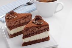 Chocolate cake and coffee Stock Photo