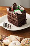 Chocolate Cake with Cookies royalty free stock photography