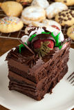 Chocolate Cake and Cookies royalty free stock photos