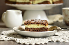Chocolate cake with cottage cheese. Royalty Free Stock Photo