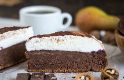 Chocolate Cake with Cream Stock Images