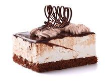 Chocolate cake with cream Stock Image