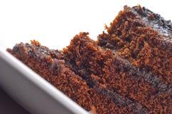 Chocolate cake with creamy chocolate Stock Photos