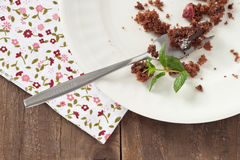 Chocolate cake crumbs Stock Photography
