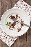 Chocolate cake crumbs Stock Photos