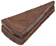 Chocolate Cake Cutout. Chocolate Cake Slice Portion Cutout Additional format is with transparent background royalty free stock image