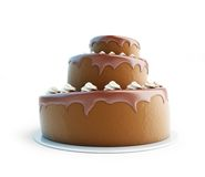 Chocolate cake 3d Royalty Free Stock Photos