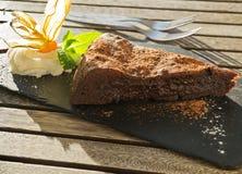 Chocolate cake. Stock Photo