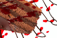 Chocolate cake with decoration Stock Images