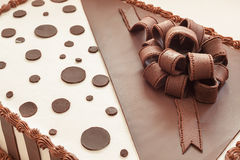 Chocolate Cake Decoration Royalty Free Stock Images
