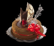 Chocolate cake with decoration Royalty Free Stock Photo