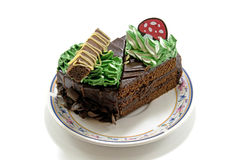 Chocolate cake delicious dessert bakery Stock Image
