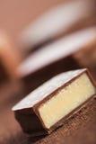 Chocolate cake dessert. Close up picture of chocolate cake dessert Royalty Free Stock Image