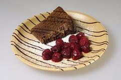 Chocolate cake dessert Stock Image