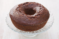 Chocolate cake on dish Royalty Free Stock Photos