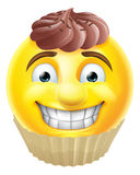 Chocolate Cake Emoji Emoticon Royalty Free Stock Photography