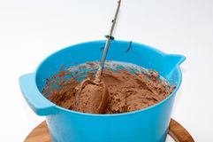 Chocolate cake for filling and coating the cake Stock Photo