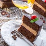 Chocolate cake. A fresh and tasty chocolate cake Royalty Free Stock Image