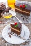 Chocolate cake. A fresh and tasty chocolate cake Stock Photo