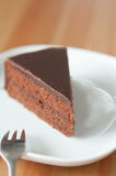 Chocolate Cake. With chocolate frosting Royalty Free Stock Photos