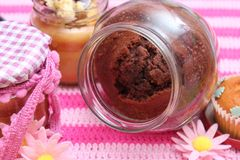 Chocolate cake in a glas Royalty Free Stock Photos
