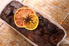 Chocolate cake on the grate removed from the oven Stock Photos