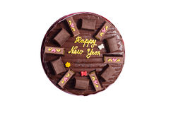 Chocolate cake happy new years Stock Photography