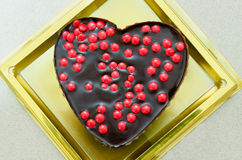 Chocolate cake heart Stock Image