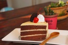 The chocolate cake Royalty Free Stock Photo