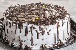 Chocolate cake with icing Royalty Free Stock Image