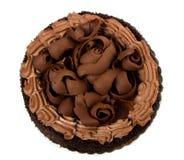 Chocolate cake with icing Stock Photo