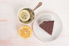 Chocolate cake with icing Stock Photography