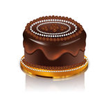 Chocolate cake icon Royalty Free Stock Images