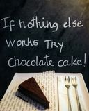 Chocolate cake. If nothing else works try chocolate cake royalty free stock photo