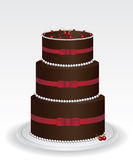 Chocolate cake illustration Royalty Free Stock Photo