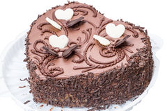 Free Chocolate Cake In The Shape Of A Heart Stock Images - 26100414
