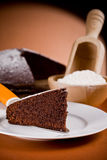 Chocolate Cake with Ingredients Royalty Free Stock Images